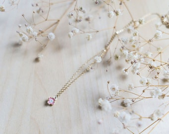 Made in Japan ~ Delicate pink cherry blossom necklace + FREE shipping