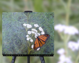 Commission an orginal Monarch Butterfly painting, butterfly art, canvas wall art, custom order, free shipping