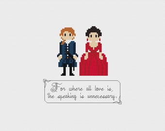 Outlander Love Quote Cross Stitch Pattern PDF Instant Download