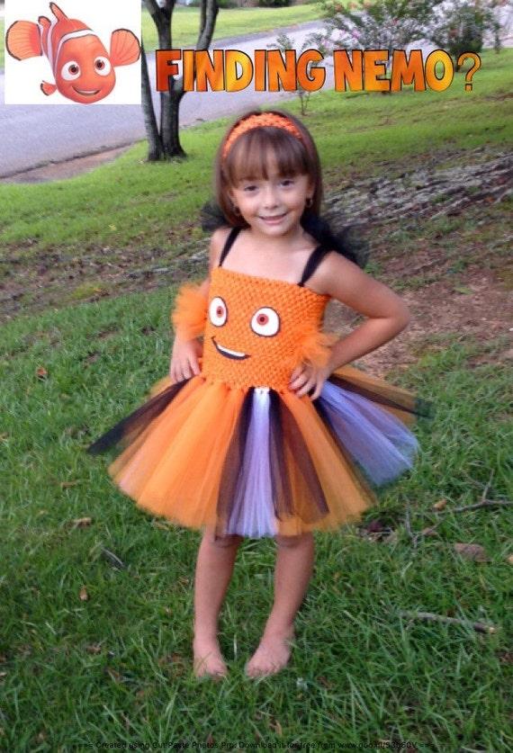 Finding nemo inspired tutu dress · Nemo Tutu Dress Costume  sc 1 st  Not So Scary Halloween for Kids & Finding Nemo Dory Costume for Kids- Everyone LOVES Dory!!