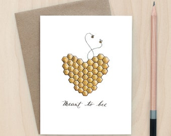 Meant To Bee - A2 Greeting Card