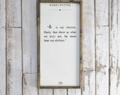 Harry Potter Quote. Wood Sign. Harry Potter Decor. Rustic Signs. Wooden Sign. Farmhouse Decor. Harry Potter Fan Art. Gift under 75