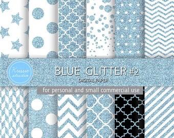 SALE *** Blue Glitter Digital Paper - Backgrounds - for graphic design, crafts,scrap booking - INSTANT DOWNLOAD (DP0053 #2)