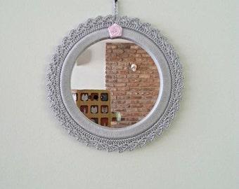 crochet round mirror