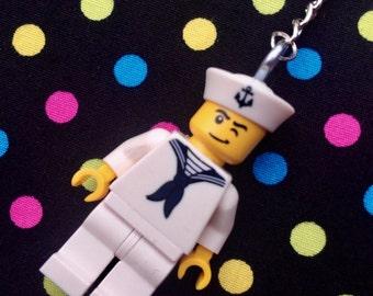 Sailor Minifigure Keychain...Handmade using LEGO® parts