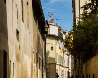 Aix En Provence, Original French Photograph, Summer Time, Warm Tone Home Decor, The Searcher, French Lane Wall Art, Village Street Scene