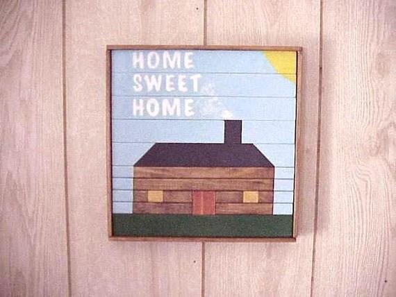 Home Sweet Home Wood Wall Art Home Decor Wooden Framed
