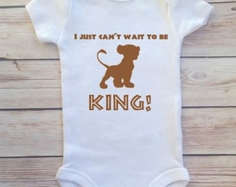 Lion King I Just Can't Wait To Be King Baby Newborn Bodysuit Lion Guard