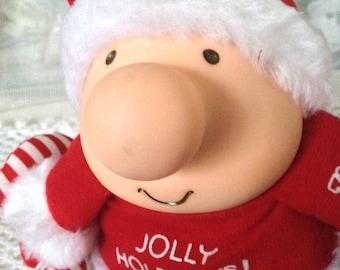 Ziggy Christmas Plush, Jolly Holidays, American Greetings, Christmas Themed Ziggy 1989 with Tags
