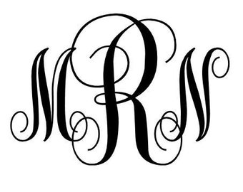 Personalized Monogram Decal
