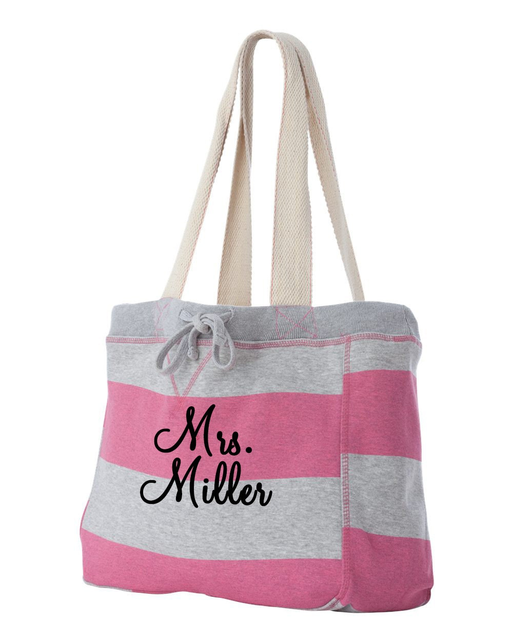 Personalized monogrammed beach bag tote