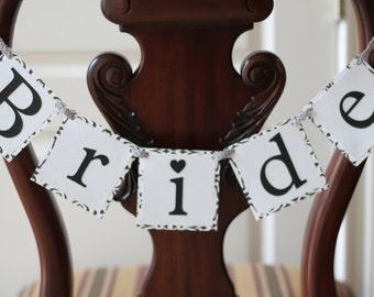 Bride & Groom Chair Banners • Custom Bridal Banner • Bride Chair Banner • Bridal Shower Banner • Wedding Day Banner • Custom Chair Banners