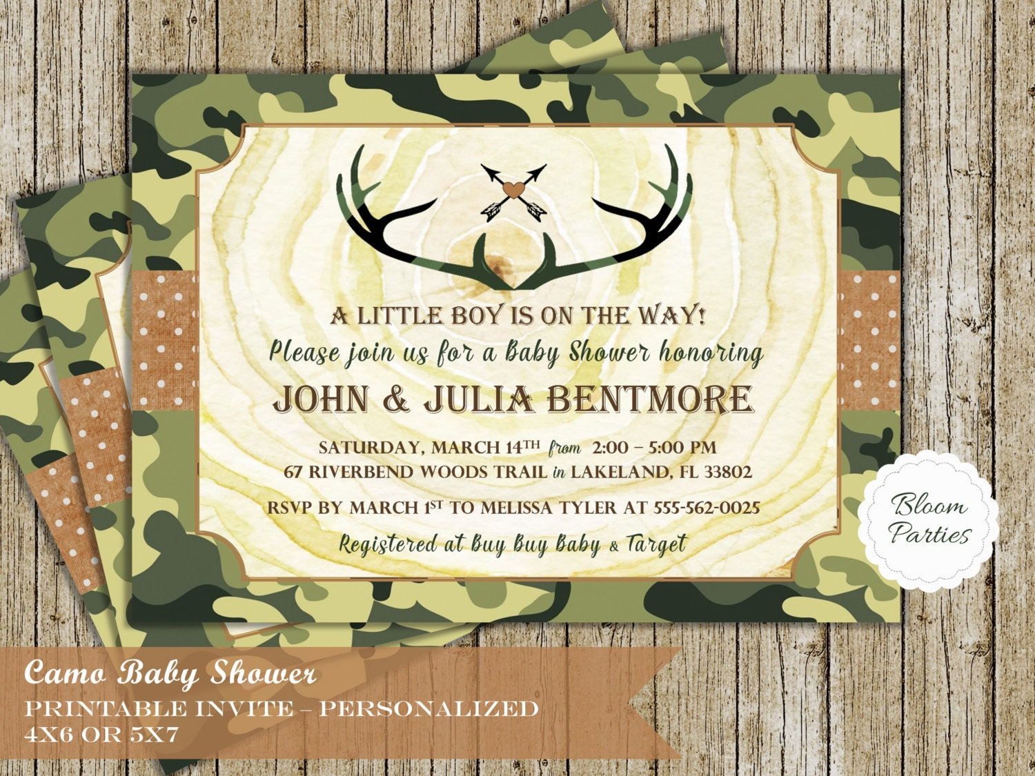 camo baby shower invitations camo baby boy invites digital