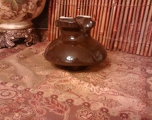 vintage, BROWN CERAMIC INSULATOR, collectibles, upcycle, repurpose, found objects, craft supplies