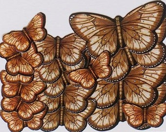 Brown Butterfly Stickers