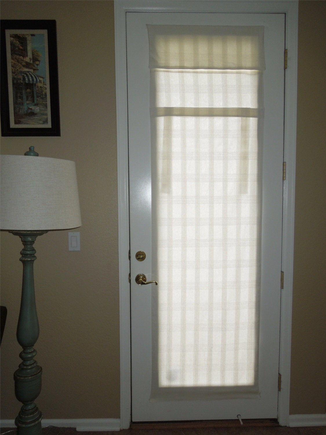 1500 #3D382A CLEARANCE Extra Long French Door Curtains White Waffle pic Clearance Entry Doors 44311125