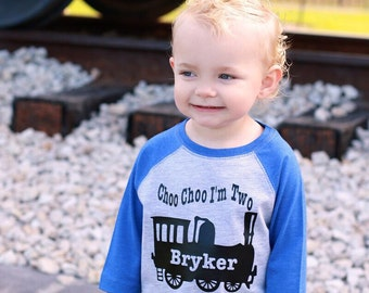 Choo choo train birthday shirt, train t-shirt, train shirt, train birthday shirt, 2nd birthday shirt, boys second birthday shirt