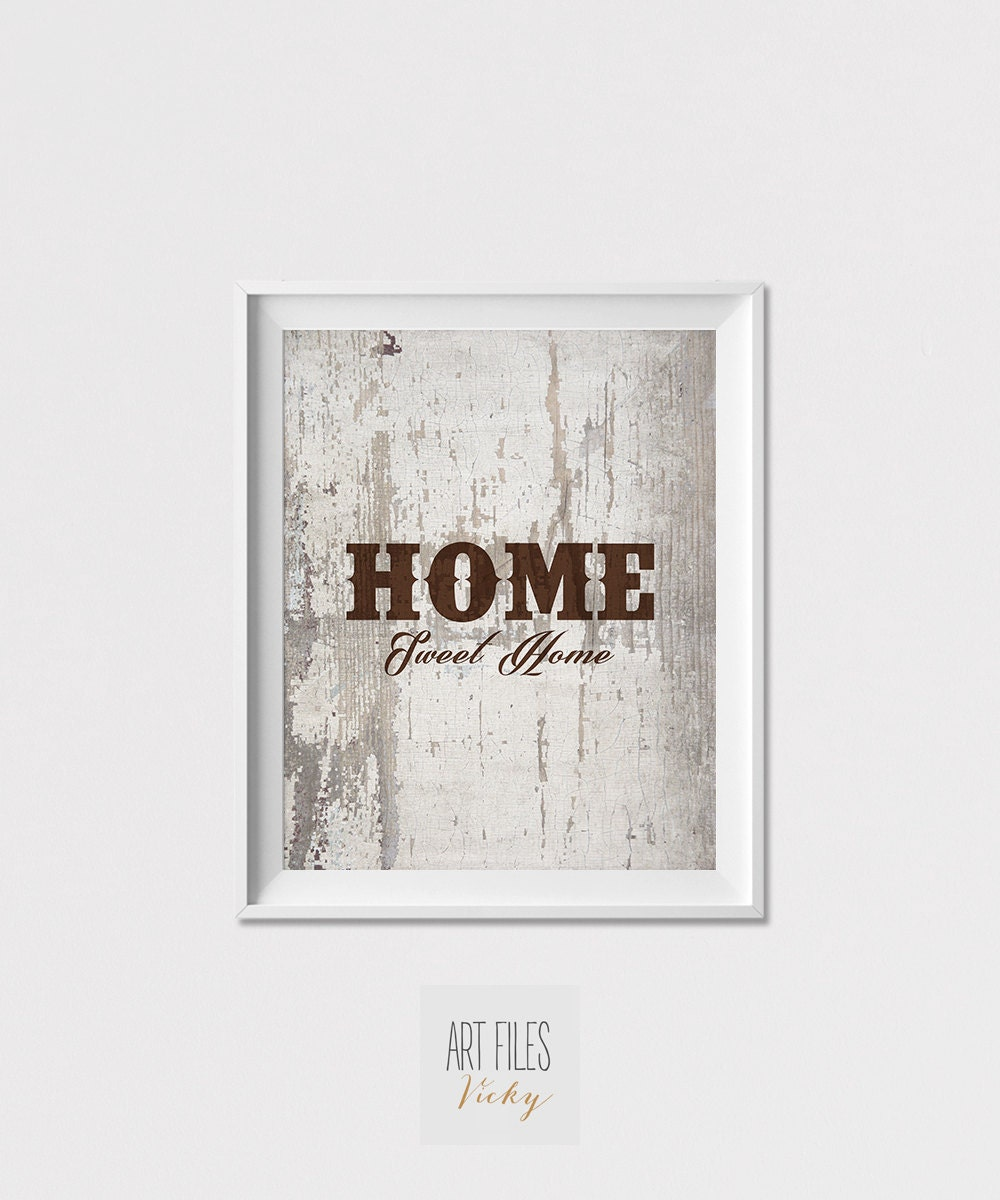 Home sweet home art print wall art quote print wall decor Home sweet home wall decor