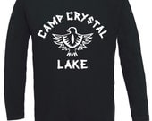Friday the 13th Camp Crystal Lake Long Sleeve TShirt Horror Halloween Costume NEW
