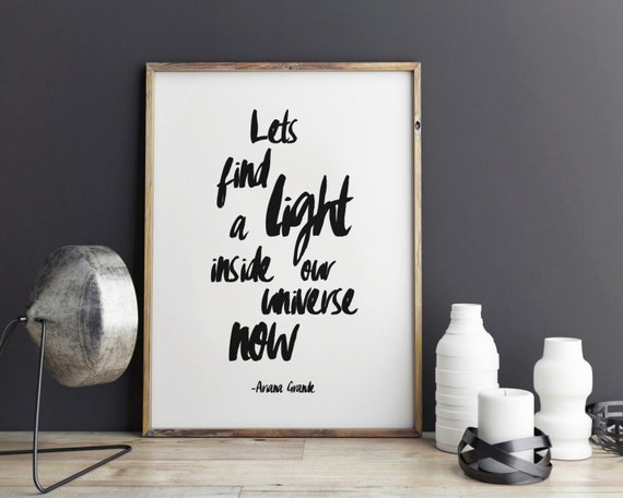 Wall Art Quotes From Songs : Ariana grande song quotes lyric art wall print