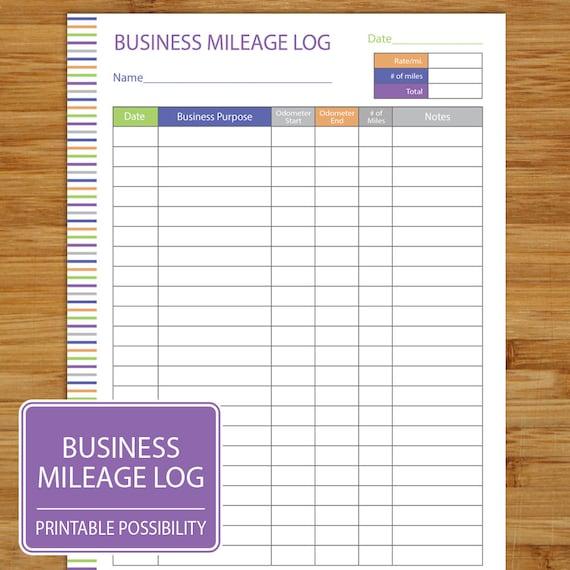 mileage log business mileage tracker auto mileage tracker