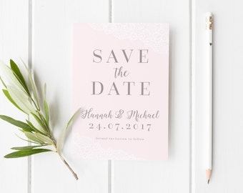 Lace Save The Date, Elegant Wedding Invite, Simple Lace Save The Date Card, Modern Save The Date, Elegant Save Our Date, Simple Lace Invite