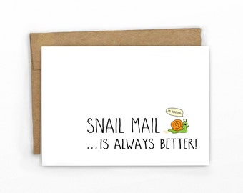 Blank Card ~ I'm Hurrying!!! Snail Mail