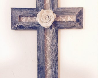 Cross Wall Decor | Couples Gift | Wood Cross | Rustic Cross | Wooden Cross | Reclaimed Wood | Cross Gifts | Best Friend Gift | Rustic