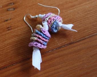 Crochet Circle Earrings