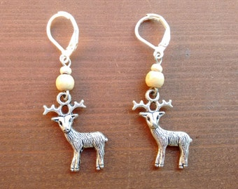 Christmas Deer Drop Earrings