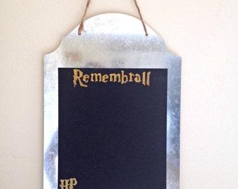 Harry Potter Chalk Board Neville Remembrall Metal Gold Memo Board