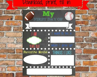 first day of school sign template - first day of kindergarten instant download first by