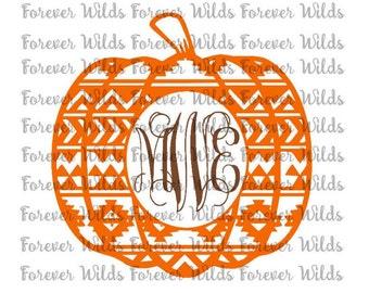 Aztec pumpkin svg - DFX - pumpkin svg - fall svg -  svg - Cut File -HTV Iron on - Silhouette- Cricut - Digital Download -NO monogram