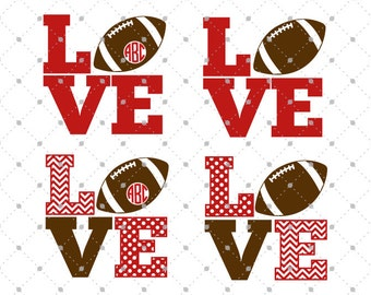 Football Love SVG Cut Files, Football SVG cut files for Silhouette, cut files for Cricut, svg files, svg files