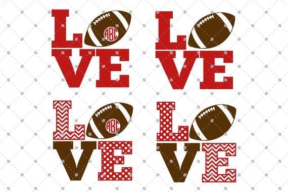 Football Love Svg Cut Files Football Svg Cut Files For