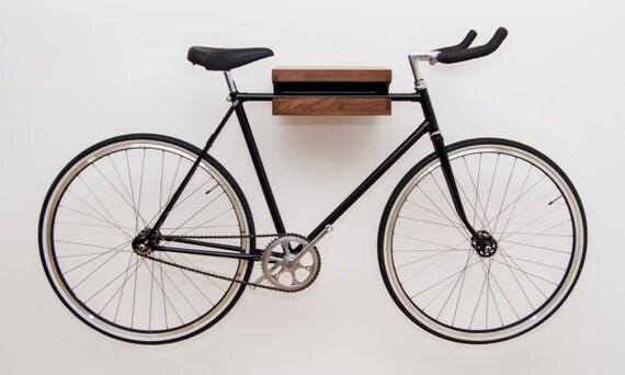 Wooden Bike Rack Walnut Wooden Bike Shelf Bike Wall Mount