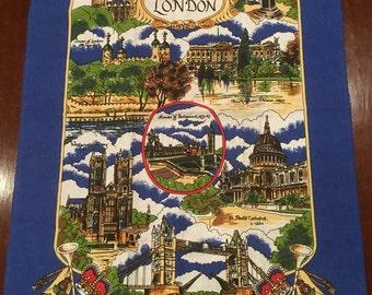 London Historical Scenes Souvenir Cotton Tea Towel