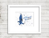 Ravenclaw. Wit Beyond Measure. Hogwarts. Harry Potter. Instant Download. Watercolor Calligraphy Print Calligraphy Font. Home Decor. Wall Art