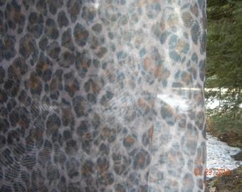 Leopard Print Sheer Fabric - 2 Yards