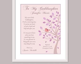 Goddaughter Print - Personalized Goddaughter Gift - Baptism Keepsake - Baptism Sign - Baptism Goddaughter - Goddaughter Christening Gift