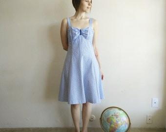 Vintage 1970s LANZ Nautical Sundress/Lanz Dress