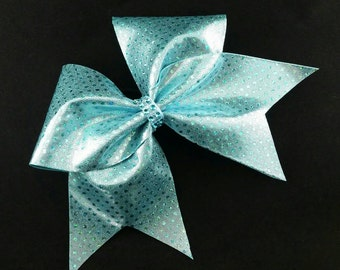 Light Blue cheer bow, Cheer bow, sequin cheer bow, cheerleading bow, cheerleader bow, cheer bows, softball bow, cheerbow, dance bow, big bow