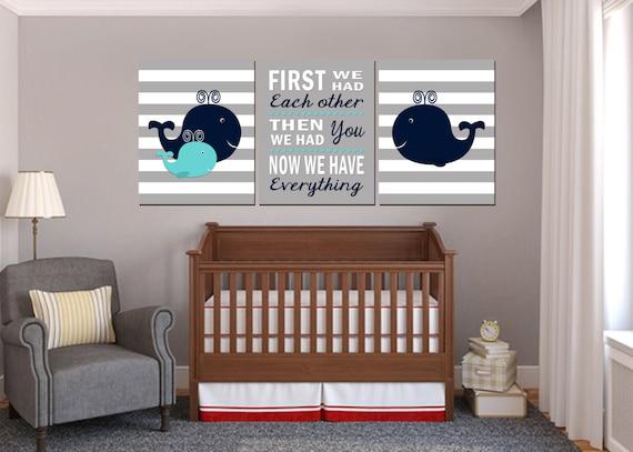 Nautical Nursery Art Baby Boy Nautical Nursery Whale Nursery