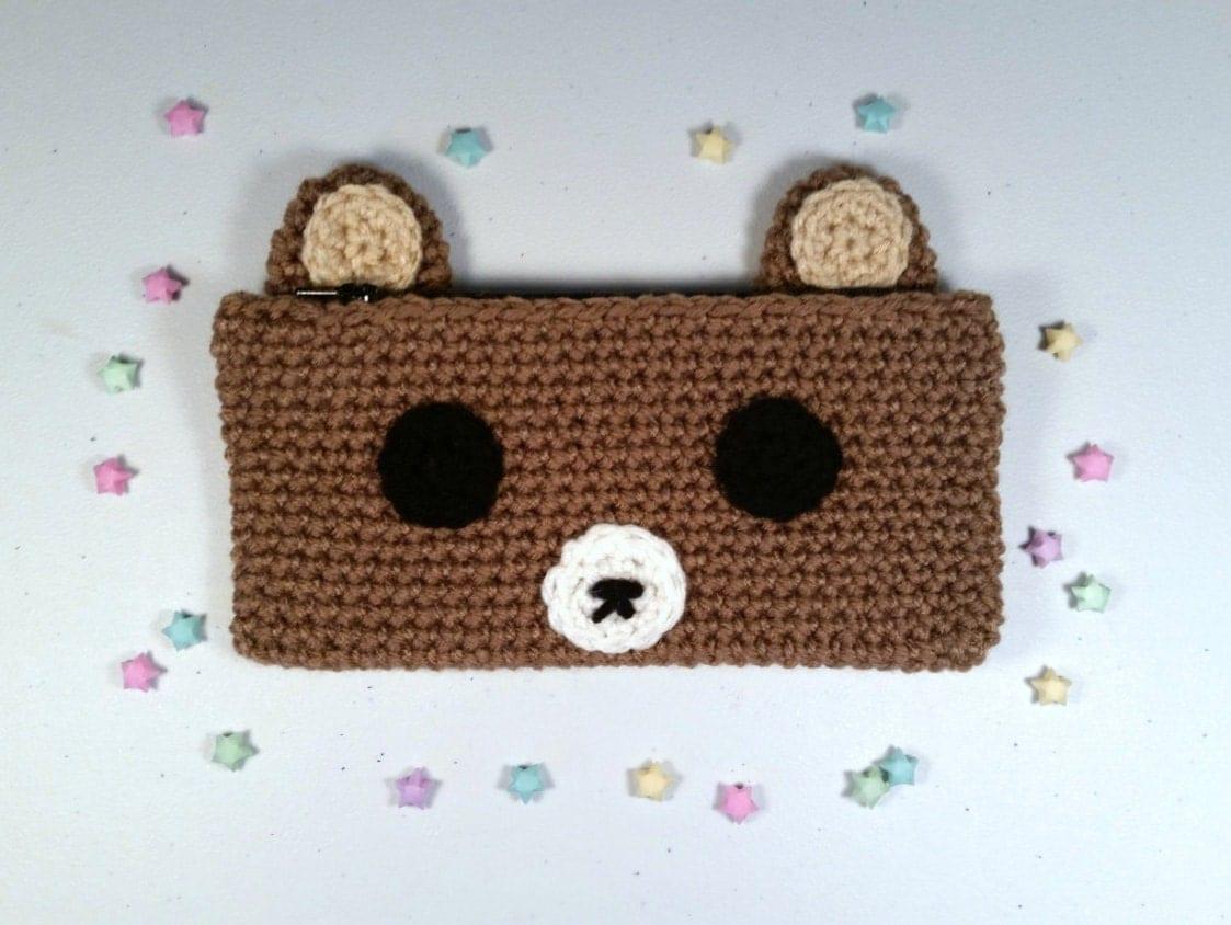 Rilakkuma Pencil Case Crochet Pencil Case Pencil Pouch