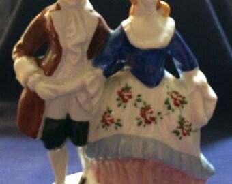 OCCUPIED JAPAN Victorian Couple Figurine