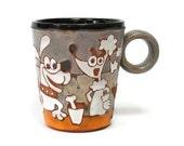 Mug Funny Dogs, Ceramic Mug, Coffee Mug, Coffee Cup, Ceramic handmade, Funny Cup  Dogs, Pottery, Pottery Mug, Mug, Cup, Gift Mug, Humor Mug