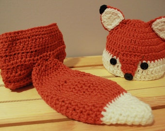 Crochet fox baby Photo prop |Made to order | Sizes available: 0-3 months, 3-6 months and 6-12 months |halloween costume