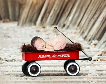 Newborn Digital Backdrop Vintage Radio Flyer Newborn Baby Prop Newborn Photography Instant Download