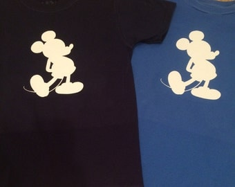Custom Mickey Mouse silhouette shirt with or without name