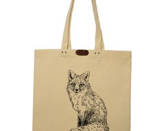 Vixen  - hand printed cotton tote bag